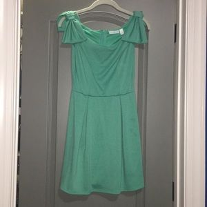Teal Dress with Bows